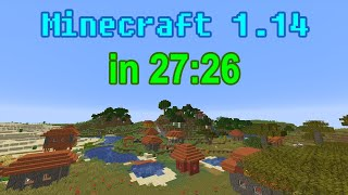 Minecraft 1.14 Speedrun World Record in 27:26 | Random Seed Glitchless Any%