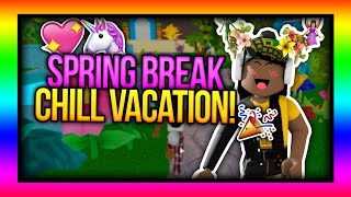 RELAXING ROBLOX SPRING BREAK VACATION! 🌸😻 | Royale High / Fantasia Resort Roleplay 💖