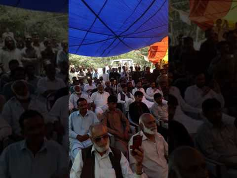 Ch M Aziz minister of ajk state addressing at quaid manzil