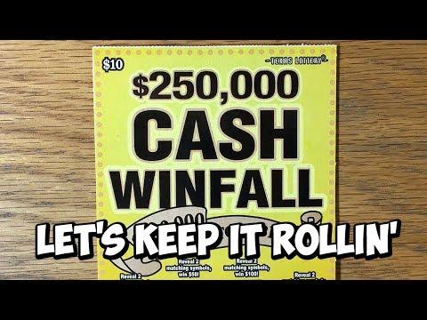 KEEP ROLLIN'! 3X $250,000 Cash Winfall! ✦ TEXAS LOTTERY SCRATCH OFF TICKETS