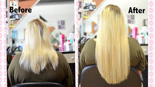Keratin Hot Fusion Hair Extensions - Application | Instant Beauty ♡