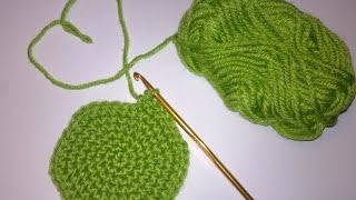 Крючок для начинающих+вязание крючком +по кругу.Круг амигуруми+скользящая петля.Lesson crochet.