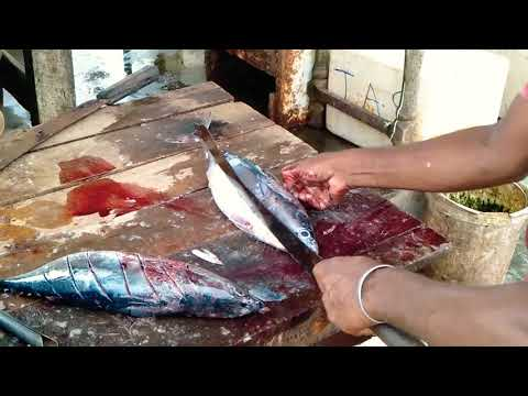How to cut BBQ for tuna 🐟😋😋😁
