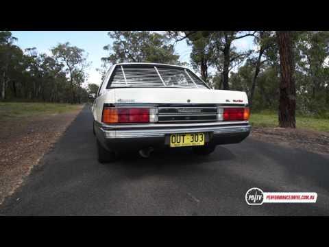 Holden VL Commodore Turbo 0-100km/h & engine sound (lightly tuned)