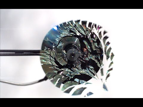 Slo Mo Guys Shatter a CD At 170,000FPS & It's Fantastic!
