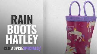 Top 5 Rain Boots Hatley [2018]: Hatley Girls' Rainboots-Unicorns and Rainbows, Pink, 7