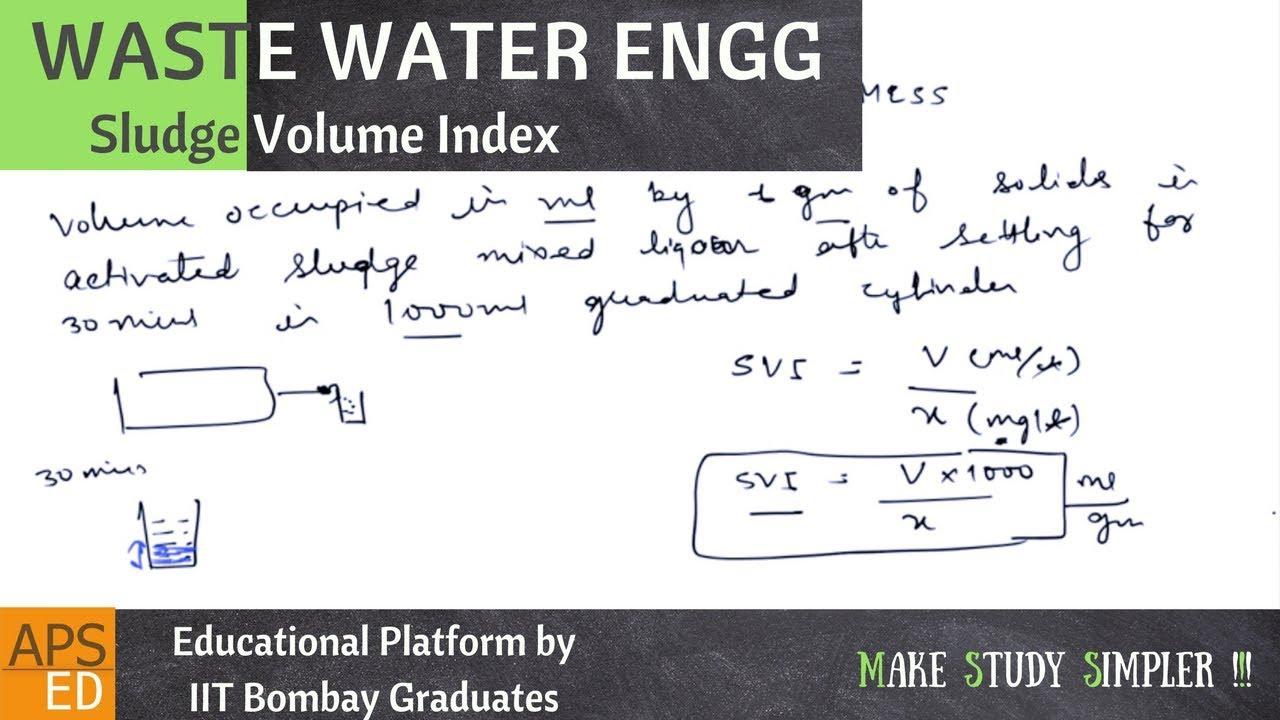 Sludge Volume Index (SVI) | Waste Water Engineering