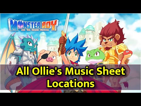 Monster Boy and the Cursed Kingdom - Ollie's Music Sheets Locations thumbnail