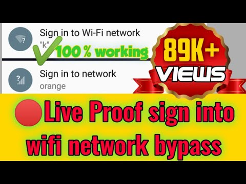 Sign In To Wifi Network Bypass Android Tips 2018
