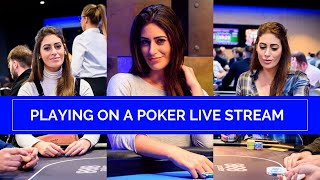 Vivian Saliba Playing on the 888poker Main Event Live Stream