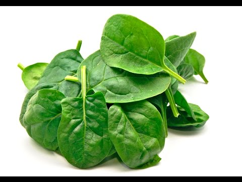 How many calories are in raw baby spinach