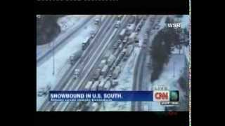 Snow storm disrupts lives in southern U.S.