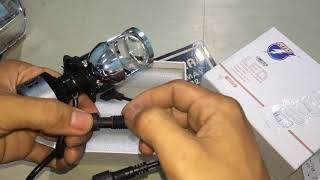 (Tuấn Decal) bi cầu led mini h4 cực sáng Video