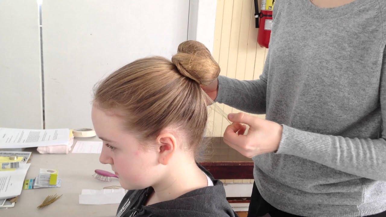 Ballet Bun Thick Hair Youtube