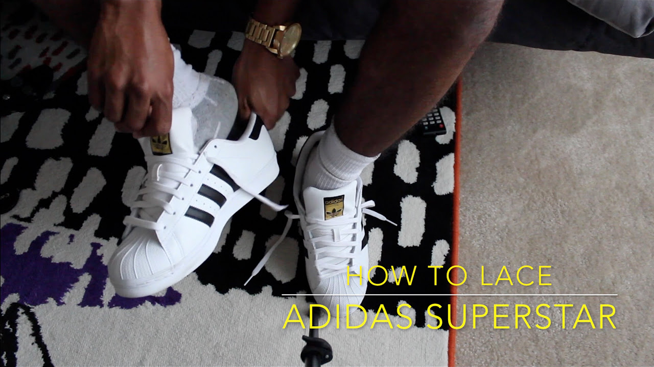 How To Lace Adidas Superstar