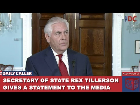 Secretary of State Rex Tillerson Gives a Statement to the Media