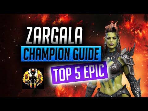RAID: Shadow Legends | Zargala Champion Guide | Top 5 Epic in Raid Shadow Legends! Arena Nuker!