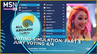 Eurovision Song Contest 2018: Voting simulation (Part 5) - Jury voting 4/4