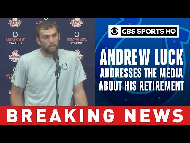 Andrew Luck Retirement Press Confrence | Breaking News | CBS Sports HQ