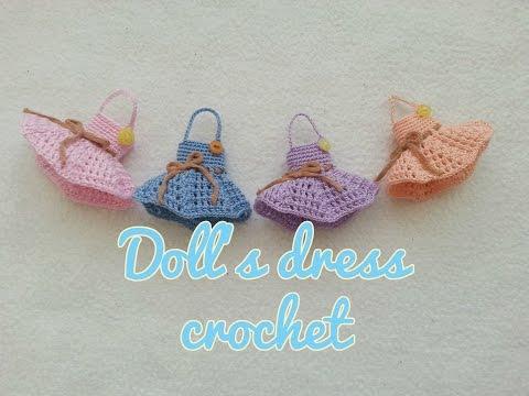 EASY DOLL'S DRESS CROCHET