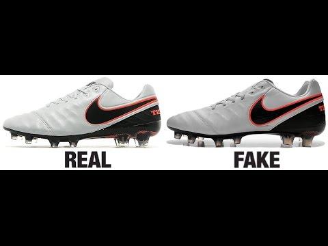 hot sales 77590 96dde How To Spot Fake Nike Tiempo Legend VI 6 Football Boots Authentic vs  Replica Comparison