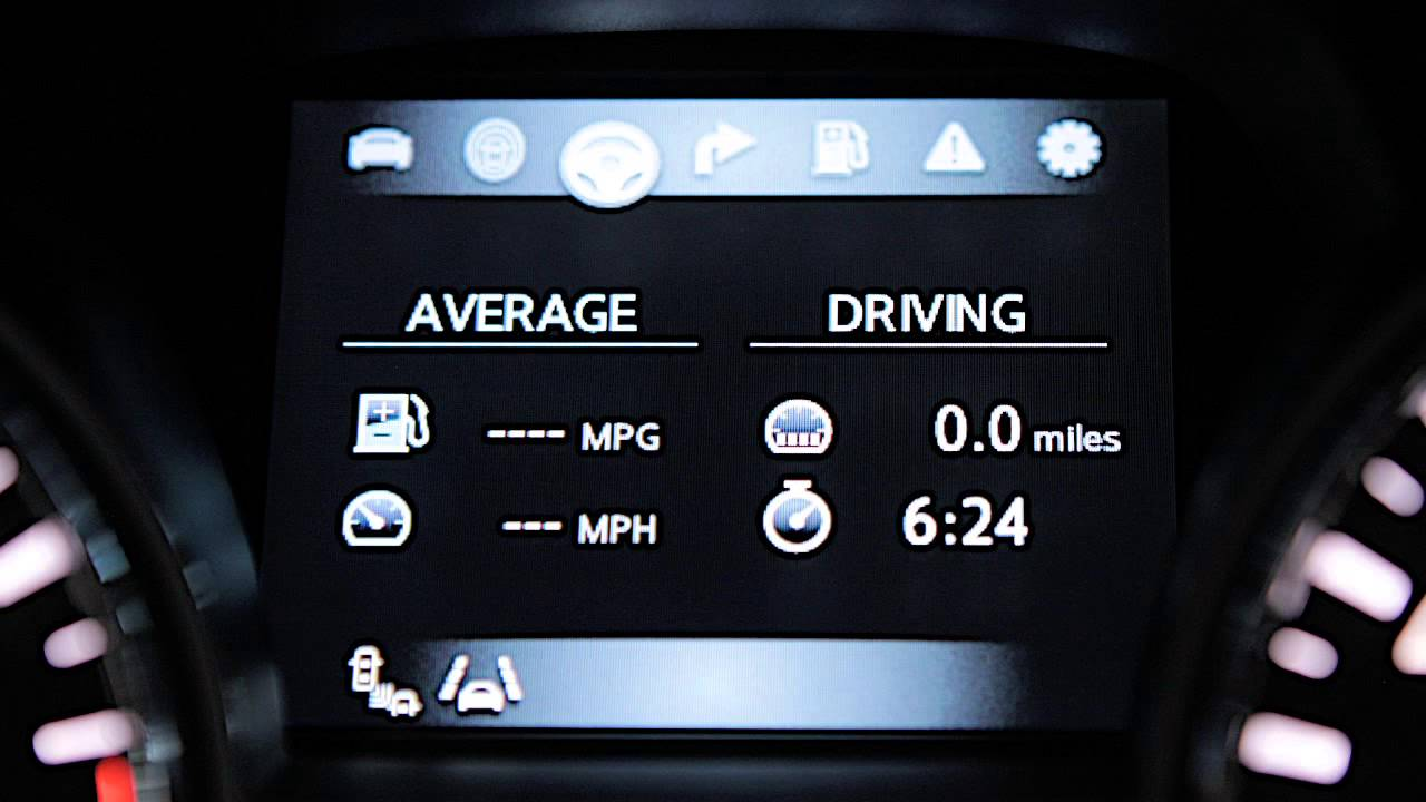 2013 NISSAN Altima Sedan - Vehicle Information Display