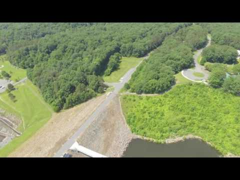 Aerial video of Jordan Lake, Chatham County, N.C.