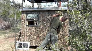 Custom Texas Hunting Blind Building Tips 3/5