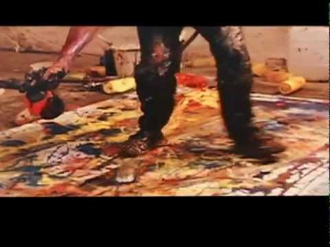 Man of Flowers, directed by Paul Cox. Gestural painting sequence.