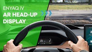 ENYAQ iV: Head-Up Display kiterjesztett valósággal