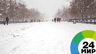 Скачать Первый снег парализовал Нью Йорк А жители и рады МИР 24