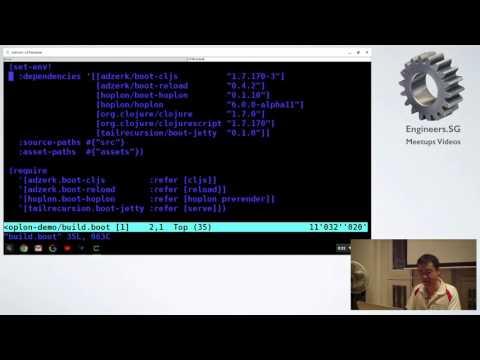 Building a reactive web frontend with Hoplon - Singapore Clojure Meetup