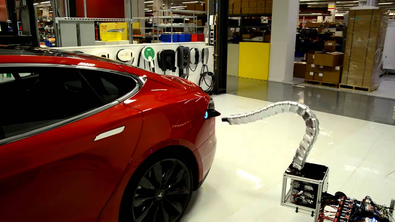The Soundtrack For Tesla's Robotic Snake Charger