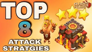 TOP 8 BEST TH10 ATTACK STRATEGY 2018 in clash of clans | DID U EVER USE ?