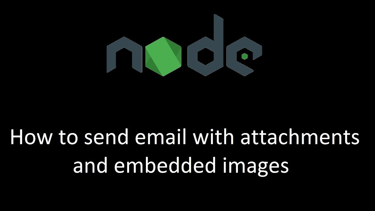 NodeJS : How to send email with attachments and embedded images