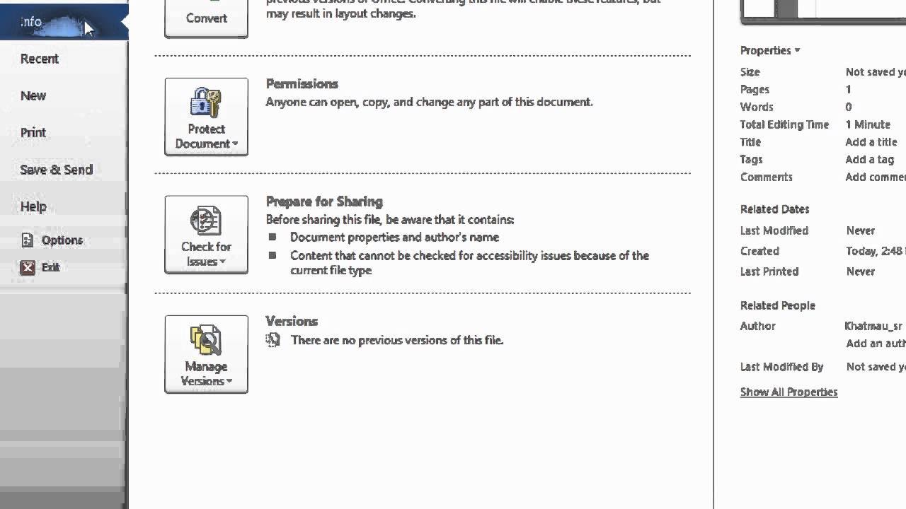 Hướng dẫn khôi phục lại file văn bản chưa kịp lưu trong Word 2010
