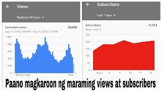 Paano Magkaroon ng Maraming Views at Subscribers|Collaboration with Filipino YouTubers|views 2018