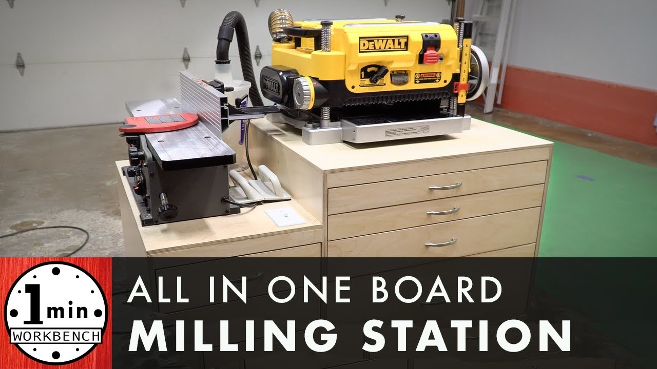 Jointer Planer Stand With Dust Collection
