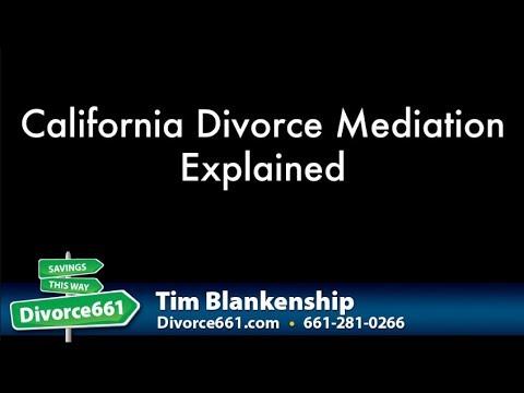 California Divorce Mediation Explained