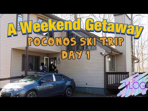 TRAVEL VLOG : POCONOS SKI TRIP | DAY1| STARSENT.|