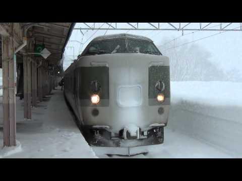 豪雪のJR信越本線 JR Shin'etsu Main Line in heavy snow