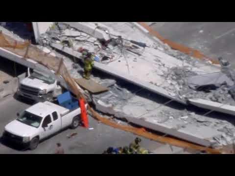 Pedestrian bridge collapses at Florida university, several hurt
