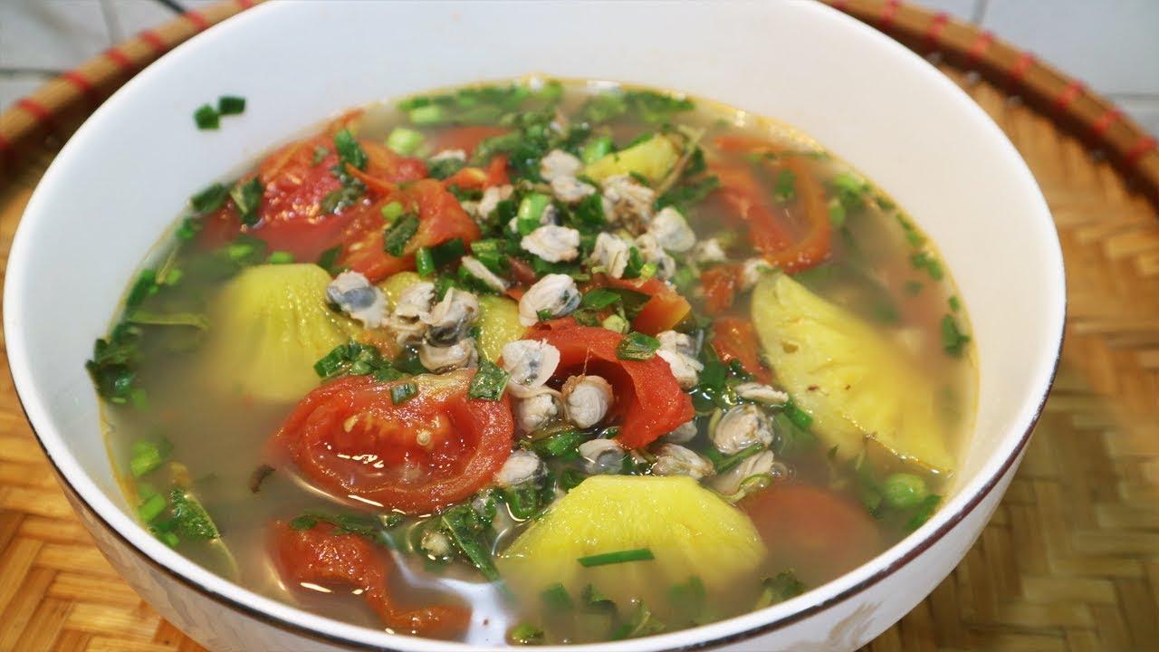 Món Ngon Ngày Hè – Canh Chua Nấu Hến sẽ giúp bạn đánh bay nồi cơm mà không cần thịt