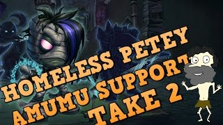 Amumu  Support AGAIN?  Full Commentary Support Gameplay Guide by Homeless Petey