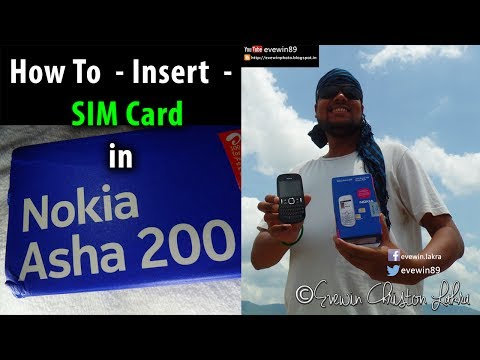 How To - Insert - SIM Card - in - Nokia - Asha - 200 - Mobile Phone
