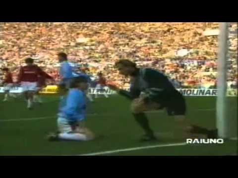 Serie A 1992-1993, day 23 Lazio - Milan 2-2 (Papin, Winter o.g., Gascoigne, Bergodi)