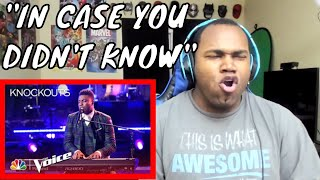 "Kirk Jay Astounds Again with ""In Case You Didn't Know"" - The Voice 2018 Knockouts REACTION"