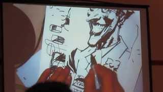 Jim Lee Joker Art Demonstration Amazing Las Vegas Comic-Con 2013