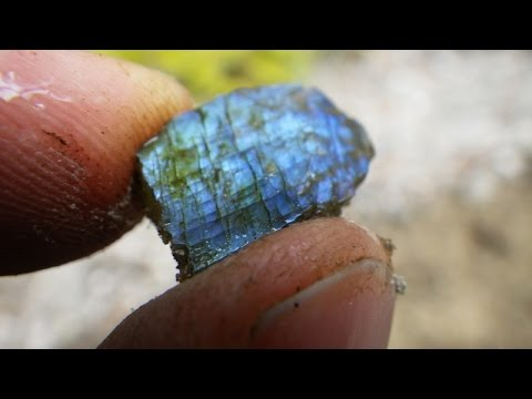 Collecting Gem Peristerite From An Abandoned Uranium Mine; Rock And Mineral