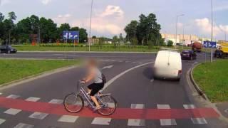 Potrącenie rowerzystki w Zielonej Górze